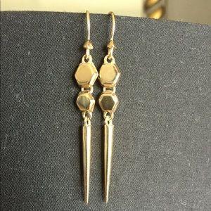Melinda Maria gold geometric earrings